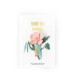 Thank You Broach_Carnation (Small)