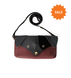 Dachshund Minibag (Black+Wine)