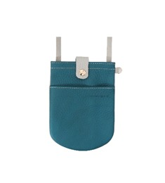 Sofa Series ; Leather Combi Phone Bag (Turquoise Blue)