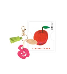 Upcycling Leather Charm ; 01 Apple